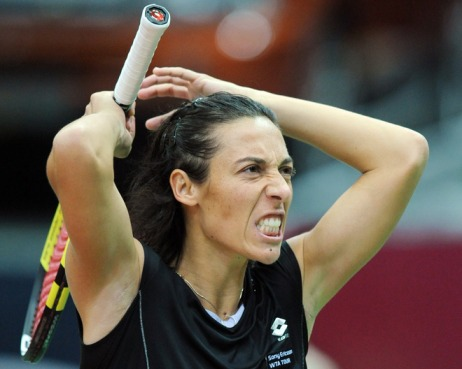francesca schiavone kremlin cup moscow amazing face