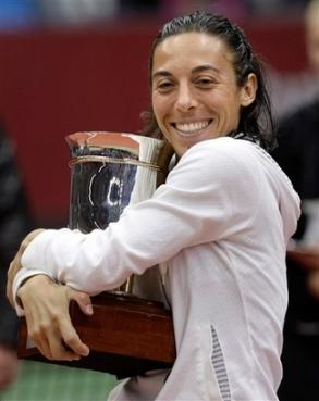 francesca schiavone kremlin cup moscow trophy hug