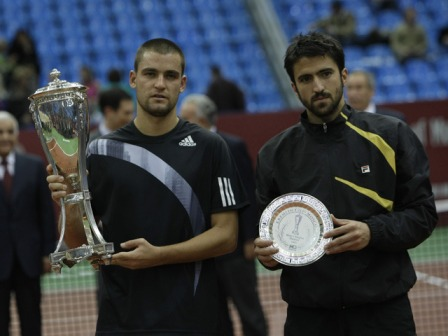 mikhail youhzny janko tipsarevic kremlin cup moscow trophies
