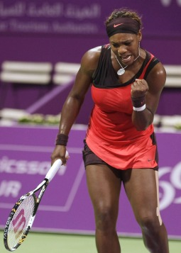 serena williams doha day one