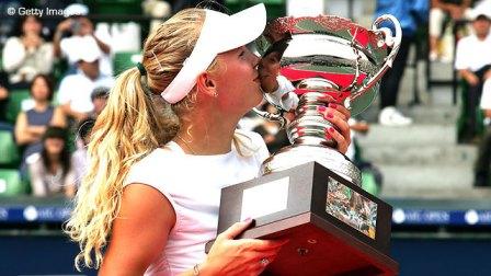 wozniacki osaka hp open trophy 2008