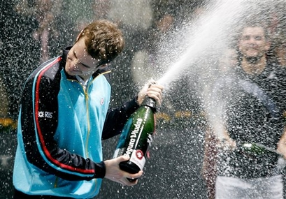 andy murray champagne