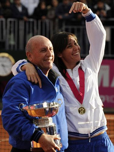 flavia pennetta and father oronzo