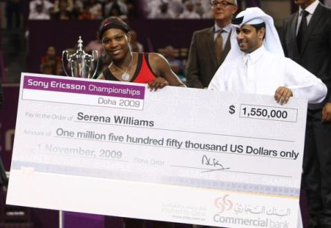 serena williams doha 2009