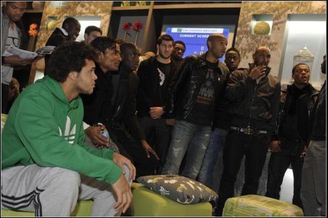 tsonga henry anelka french football team