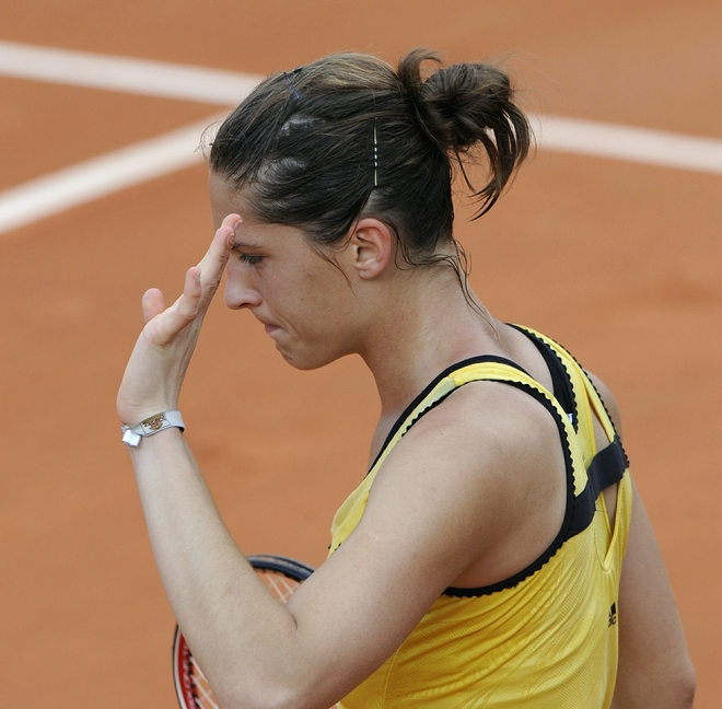 Lovely Andrea Petkovic led by